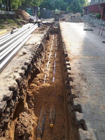 Ciepłownicze rury preizolowane w obsypce piaskowej POLINSBUD