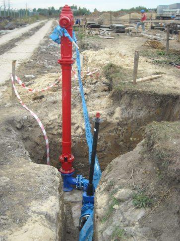Hydrant w wykopie POLINSBUD